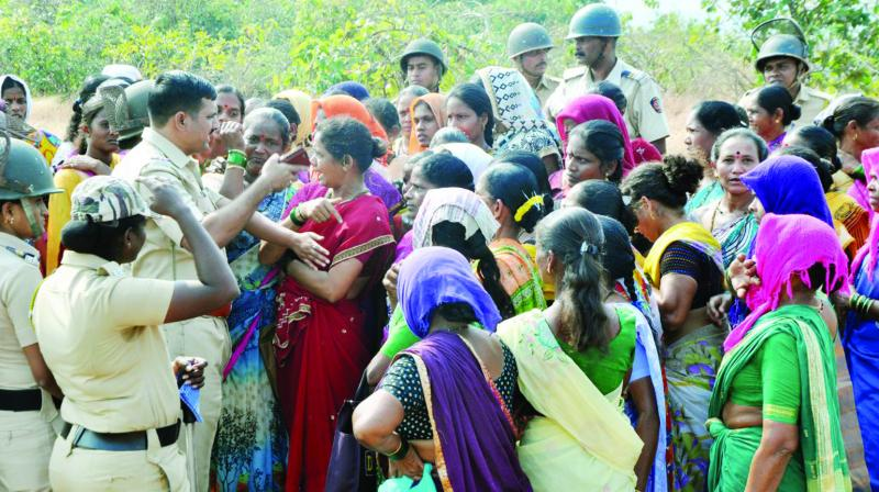 Farmers from 15 villages are opposing the project.