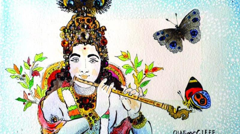 The series represents butterflies, orchids, flowers, birds, the jungles and the fine rich silk of the state.