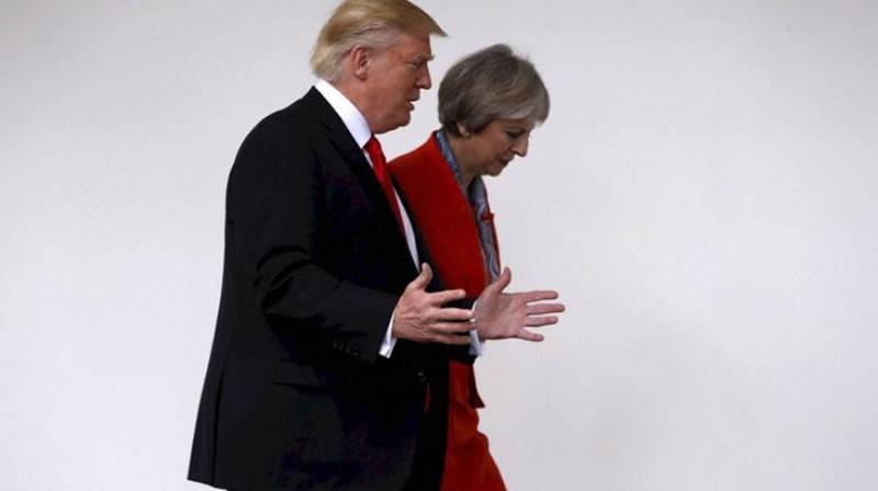 The US leader is scheduled to make a state visit to Britain next month. (Photo:AP)