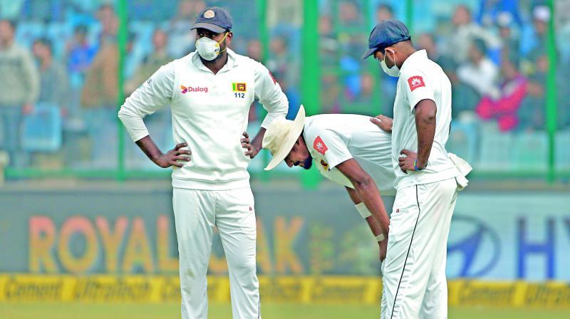 Sri Lanka quick Suranga Lakmal vomited twice between overs. (Photo: PTI)