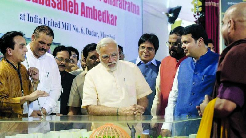 The PM laid the project's foundation stone in 2015.
