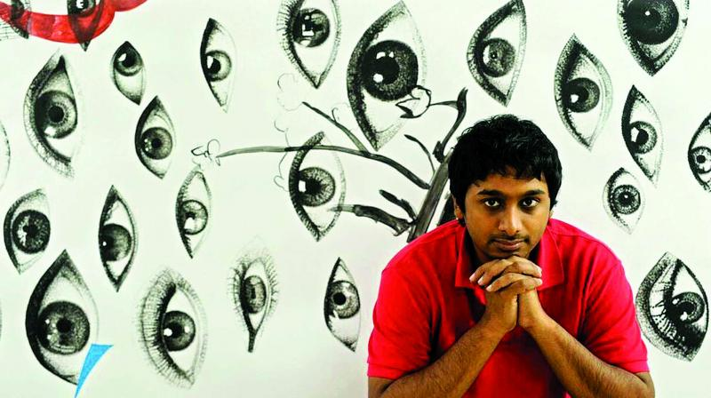 From making cartoons at 16 to being pegged as 'one of the 10 most remarkable people of 2010' by an Indian news network, Raghava has come a long way. (Photo: Nimish Jain)