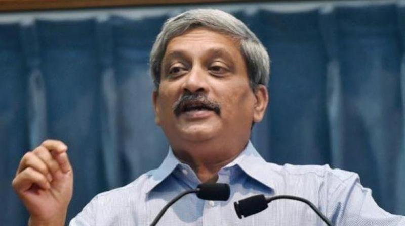 Manohar Parrikar, who succeeded UPA's Antony as Defence Minister when NDA came to power in 2014, was speaking at the Goa Arts and Literature Festival in Panaji after launching a book 'Securing India The Modi Way', penned by Nitin Gokhale. (Photo: PTI)
