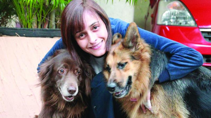 Priya Saklani loves to work with animals as they are sensitive to the engry produced.