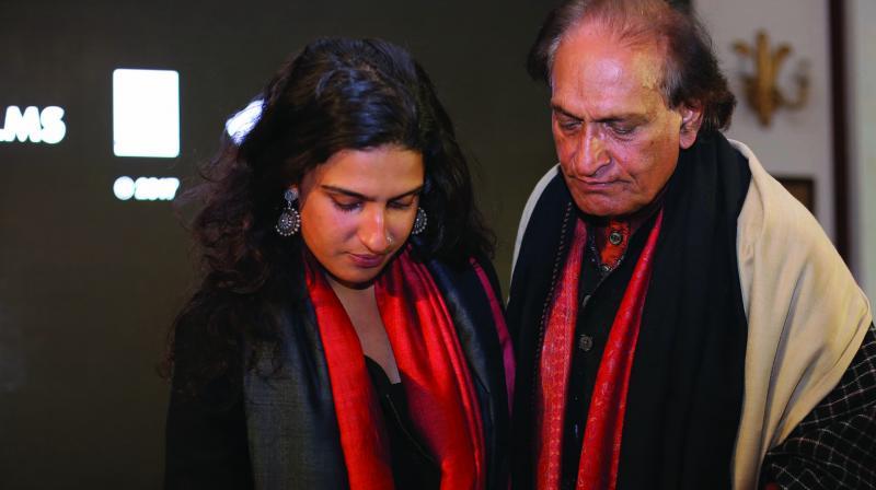 Avani Rai with Raghu Rai.