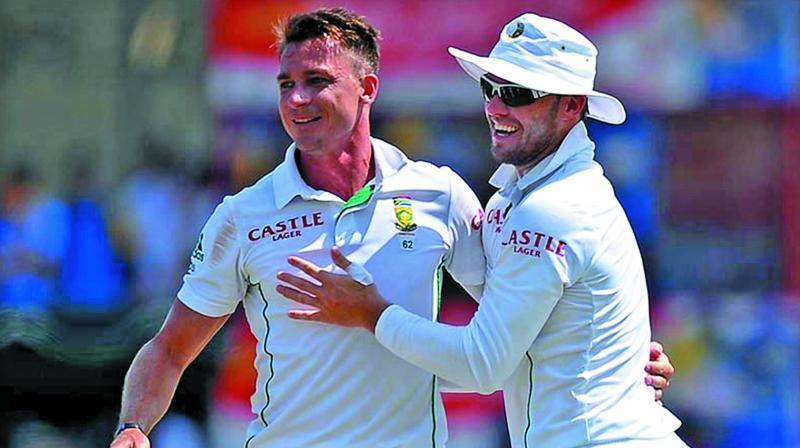Dale Steyn and AB de Villiers. (Photo: AFP)