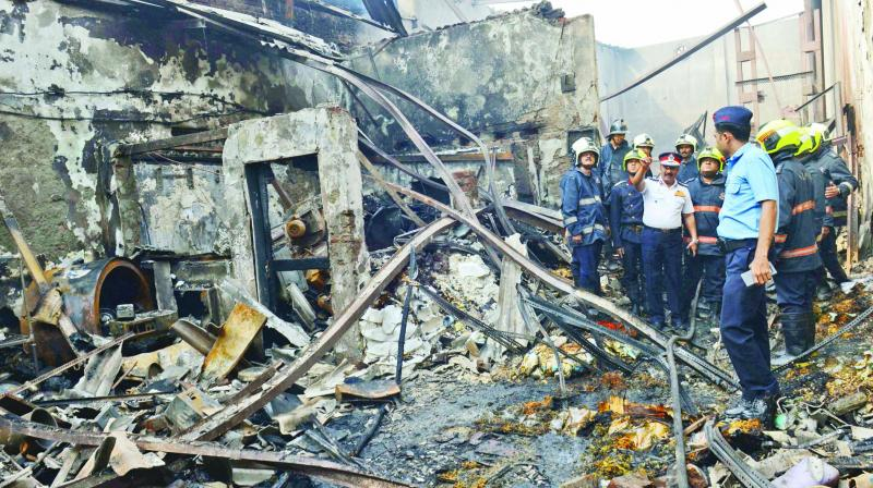 Twelve people died in the Sakinaka fire on Tuesday.