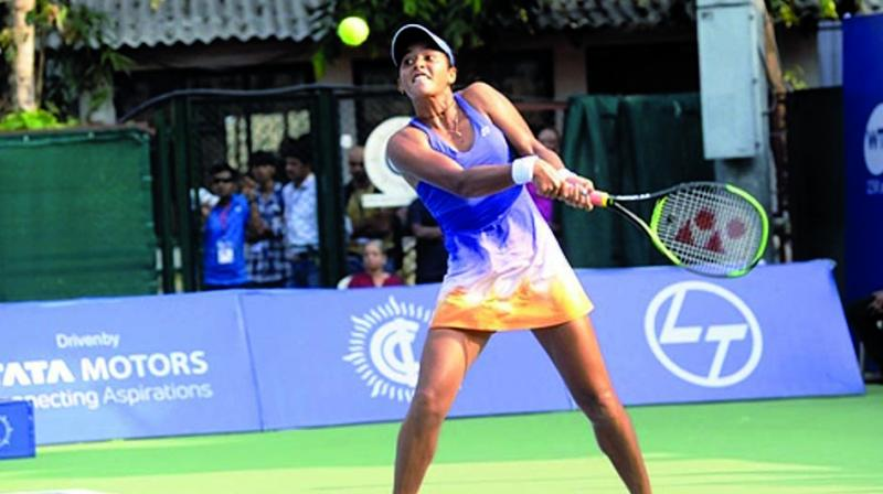The 21-year-old fought off a second set comeback by 2014 champion Ankita to ultimately prevail 6-3, 6-7(6), 6-2 in two hours and 27 minutes.