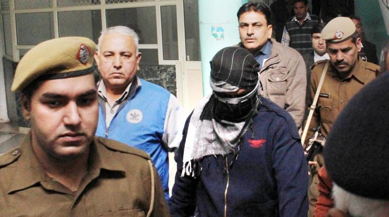 The main accused in Pradyuman Thakur murder case is produced before the Juvenile Justice Board in Gurgaon. (Photo: PTI)