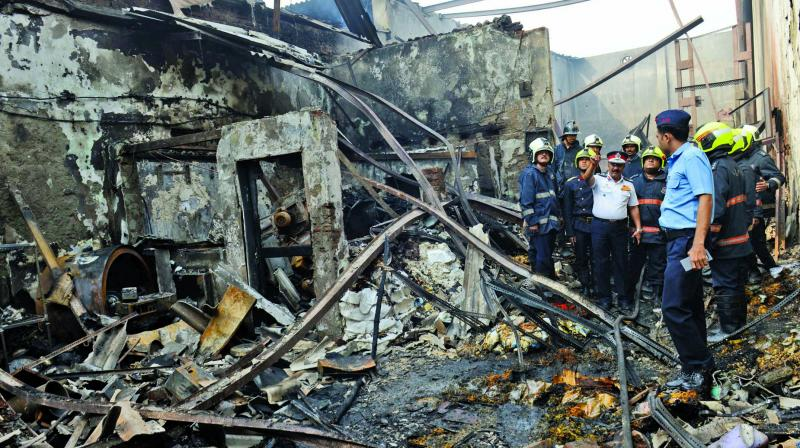 File picture of the Sakinaka fire.