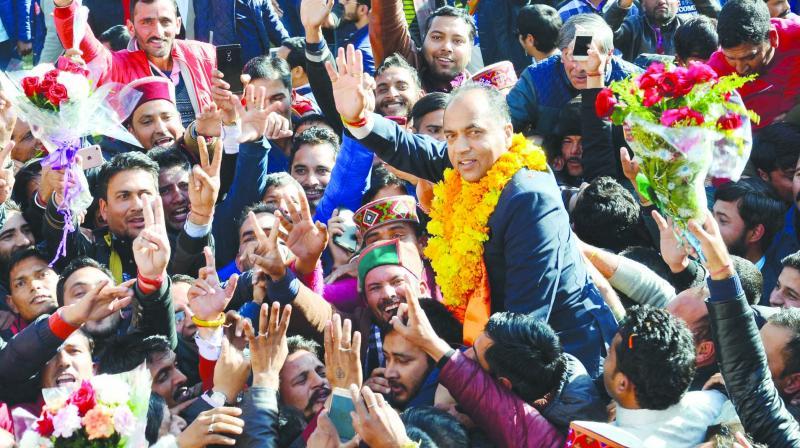 Jai Ram Thakur, 52,  a five-time legislator, represents Seraj  constituency near Mandi.