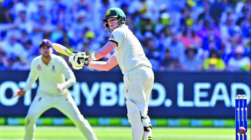 Australia skipper Steve Smith in action against England. (Photo: AP)