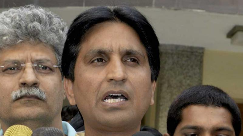 Kumar Vishwas, who was angling for an Rajya Sabha slot, said that it was difficult to survive in the party if one disagreed with Arvind Kejriwal. (Photo: ANI | Twitter)