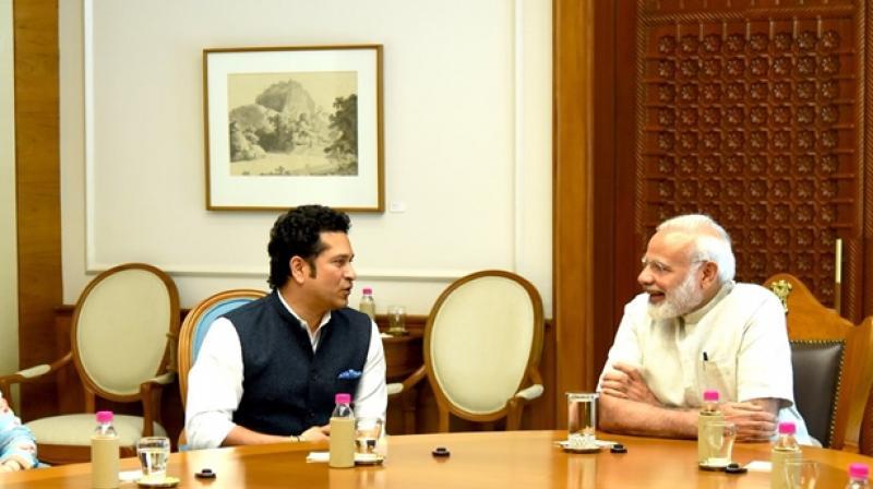 Prime Minister Narendra Modi was the most talked about Lok Sabha member, while Sachin Tendulkar the most popular Rajya Sabha member on Facebook. (Photo: Twitter)
