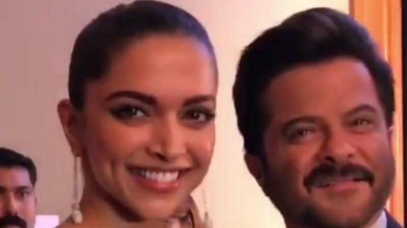 Deepika Padukone and Anil Kapoor at GQ Awards. (Photo: Viral Bhayani)