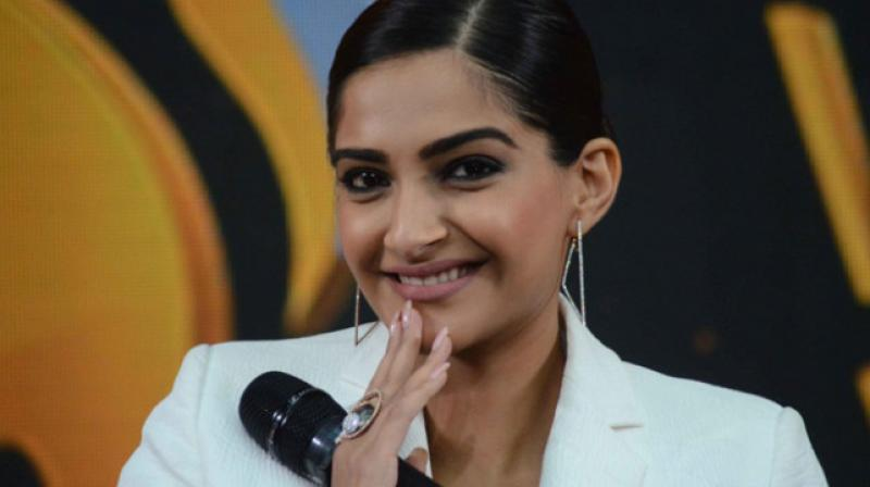 Sonam Kapoor has started shooting for 'The Zoya Factor.'