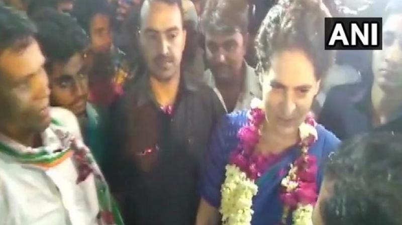 Priyanka is on a two-day trip to Amethi and Rae Bareli.  (Image: ANI)