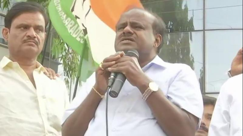 The raids were also carried out at the residences of PWD minister H D Revanna's close associates Narayana Reddy, Ashwath Gowda and Raya Gowda in Hassan, IT sources said. (Image: ANI)