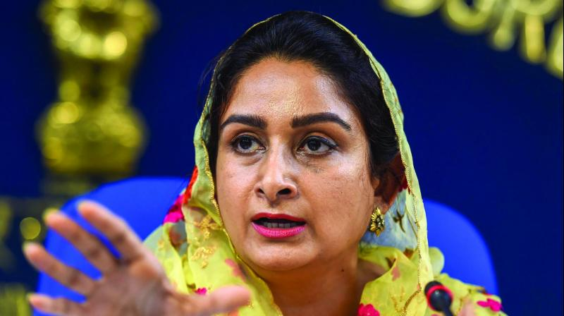 In a video shared with her social media post, Harsimrat Badal said that it is