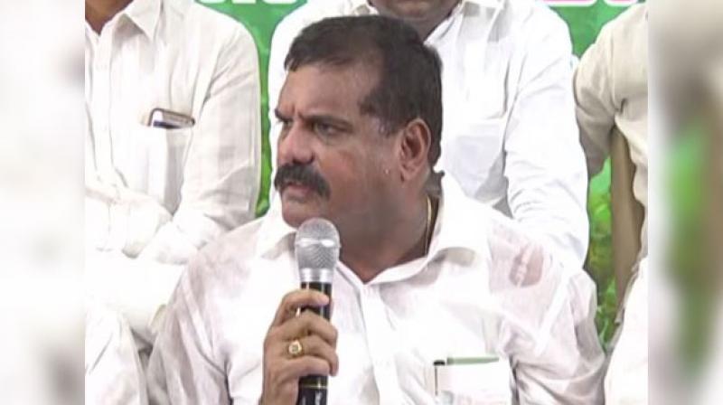 Municipal Administration and Urban Development Minister Botsa Satyanarayana. (Photo: ANI)