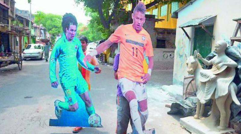 Argentina and Brazil have several fan club pages on Facebook in Kerala and Kolkata where fans regularly post pictures of players, team news and training videos.