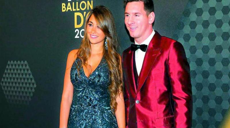 Antonella Roccuzzo with husband Lionel Messi