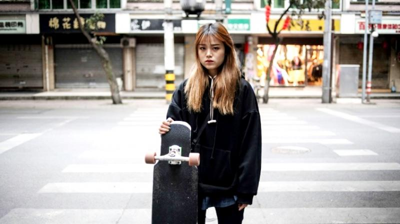 Mu says skateboarding and longboarding is not limited to gender, and many of her fans across the country are female. (Photo: AFP)
