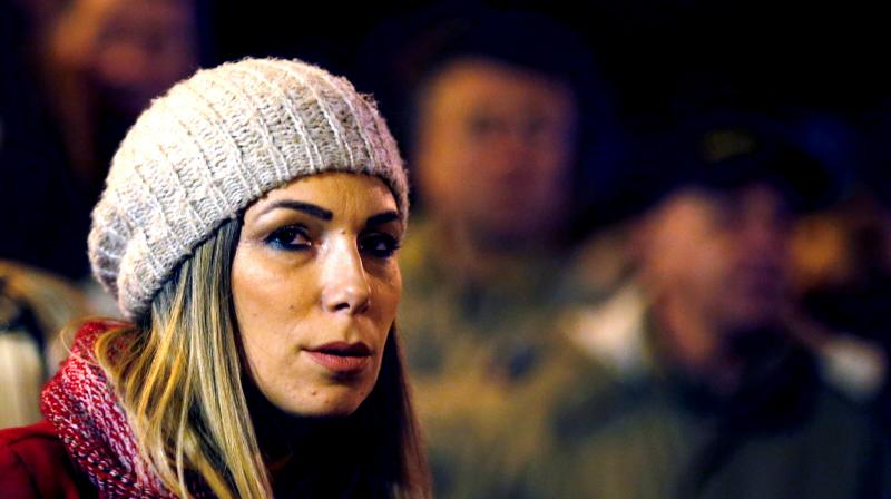 Marija Lukic waits to speak during an anti-government protest in Belgrade, Serbia. (Photo: AP)