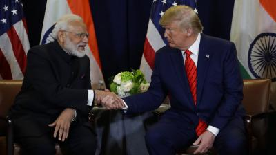 President Donald Trump meets with Indian Prime Minister Narendra Modi at the United Nations General Assembly, in New York. (Photo: AP)