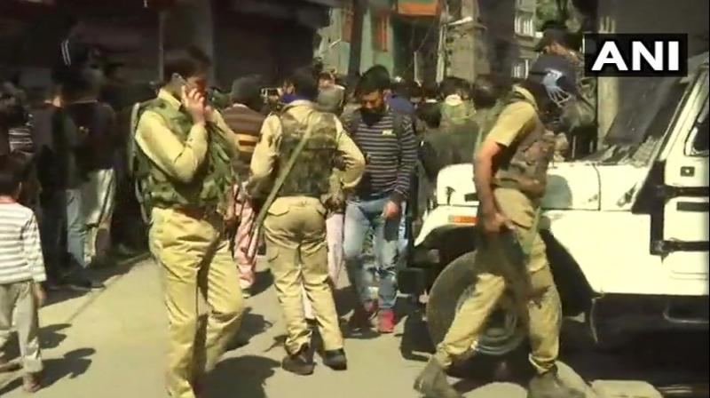 The shooting comes two days before polling for the first phase of elections for urban local bodies in Kashmir can begin. (Photo: ANI/Twitter)