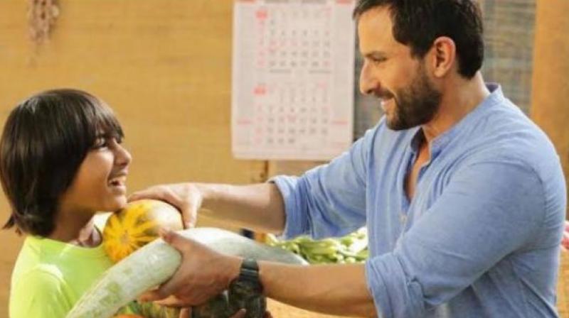 Svar Kamble and Saif Ali Khan in a still from 'Chef.'