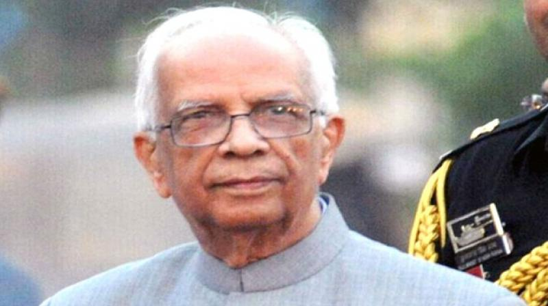 The Flag Officer Commanding-in-Chief called on governor Keshari Nath Tripathi