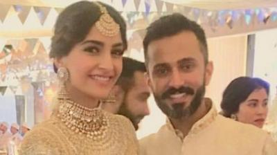 Sonam Kapoor and Anand Ahuja at their Sangeet.