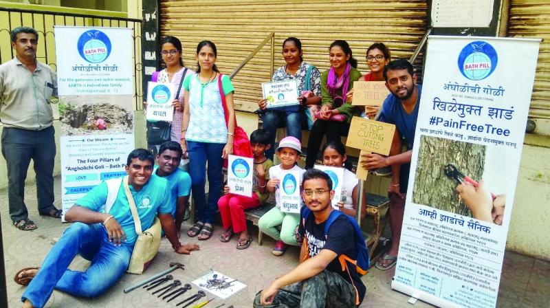 This is what members of the NGO, Angholichi Goli, founded by Madhav Patil, are trying to prevent. As part of their 'Nail Free Tree' campaign, which works towards saving and protecting trees, the members sent a letter to municipal corporations of several cities last month, urging them to take steps to prevent the hacking off of branches and the ritualistic tying of threads around Banyan tree trunks during the festival.