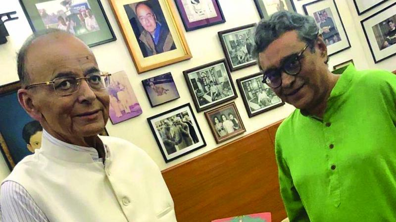 Rajya Sabha MP Swapan Dasgupta tweeted that he met Arun Jaitley on Sunday afternoon and presented a copy of his book to Mr Jaitley. In another tweet, he said,