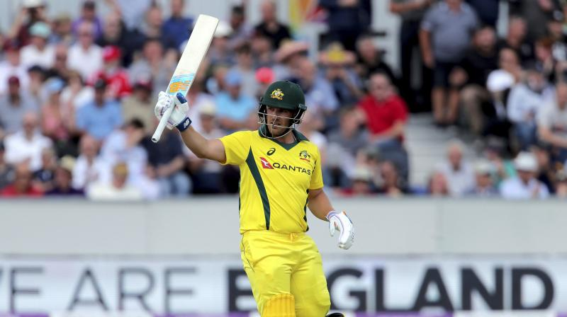 Finch survived an lbw replay review when he was on 35 (Photo: AP)