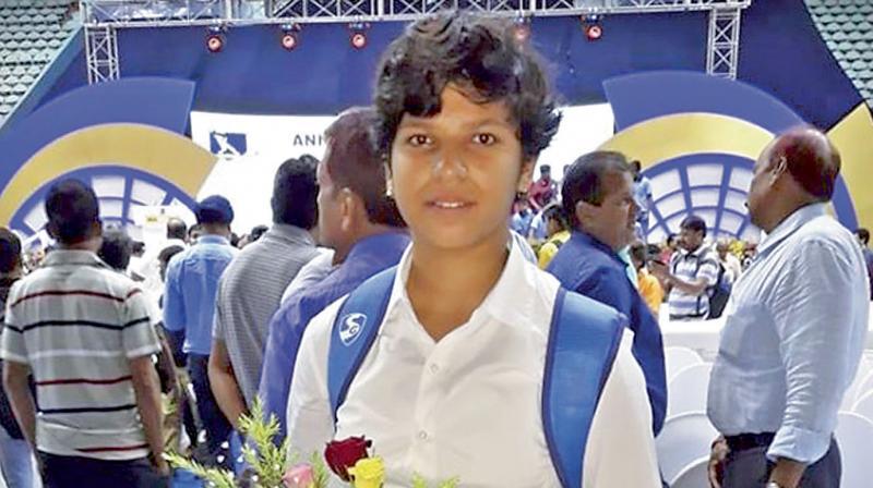 Indian women's cricketer, Richa Ghosh. DC File Photo