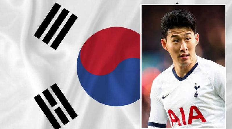 Son Heung-min back home.