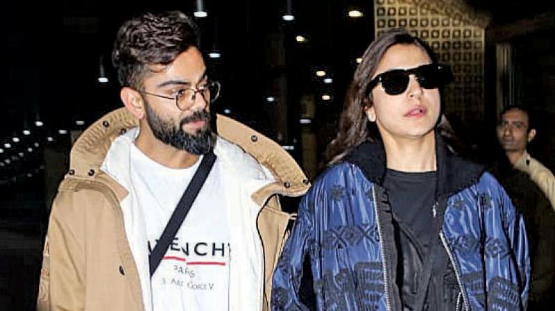 Team India captain Virat Kohli and his actress wife Anushka Sharma. DC File Photo