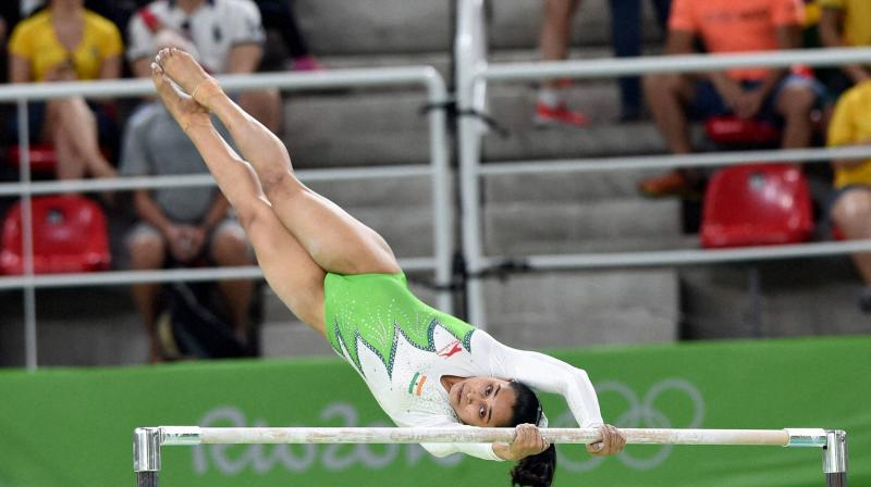 Dipa Karmakar at the 2016 Rio Olympics. PTI Photo