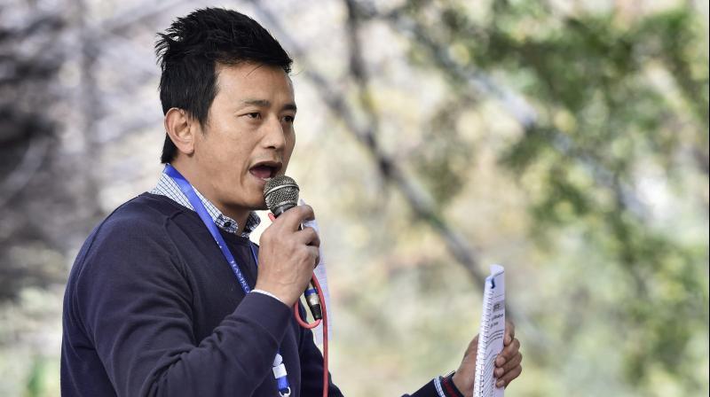 Former India football captain and Hamro Sikkim Party leader Baichung Bhutia. PTI Photo