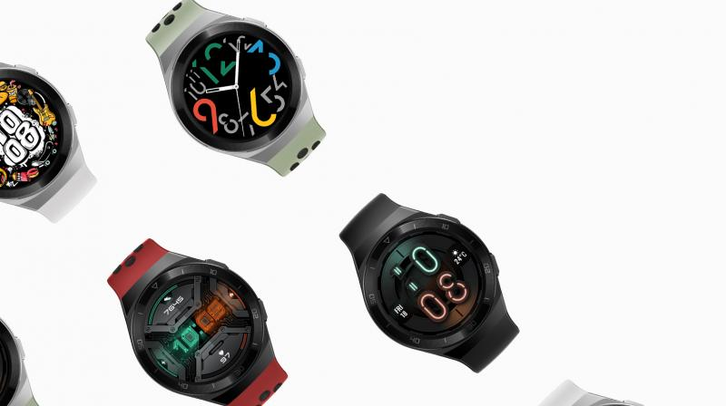 The Huawei Watch GT 2E features a rubber strap similar to Apple Watch's Nike editions.