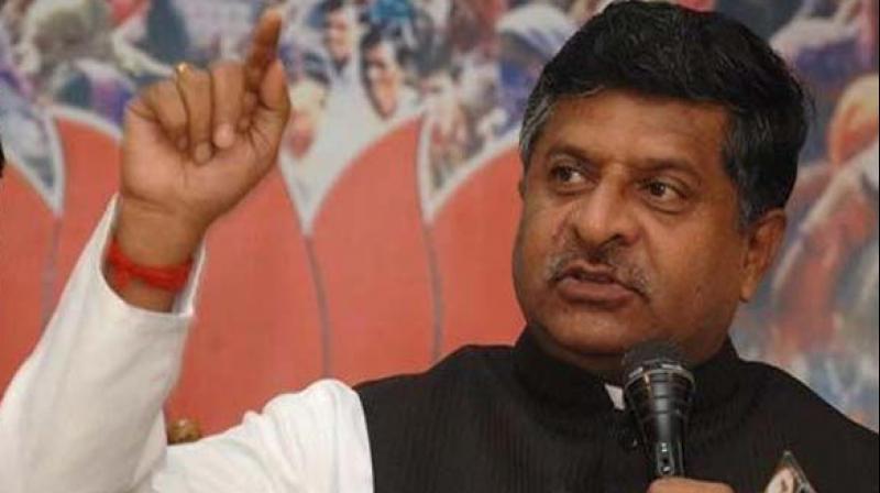 Union Minister Ravi Shankar Prasad. (Photo: File)
