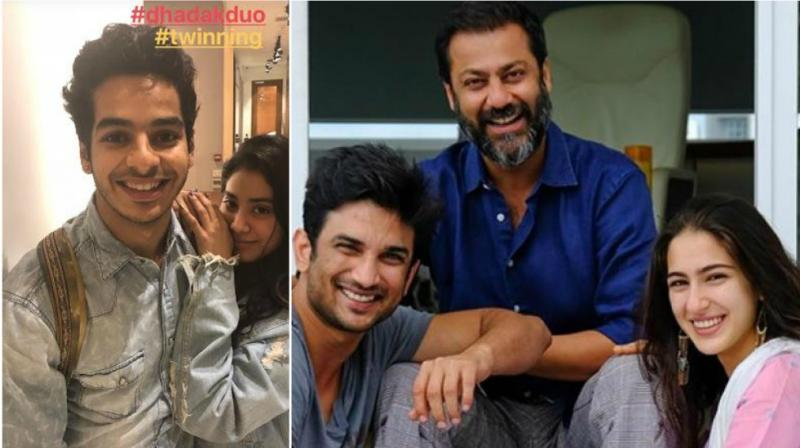 Ishaan Khatter and Janhvi Kapoor twin on 'Dhadak' sets, Sushant Singh Rajput, Abhishek Kapoor and Sara Ali Khan on 'Kedarnath' sets.