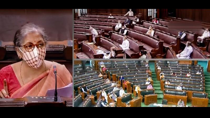 The Rajya Sabha on Tuesday. (PTI)