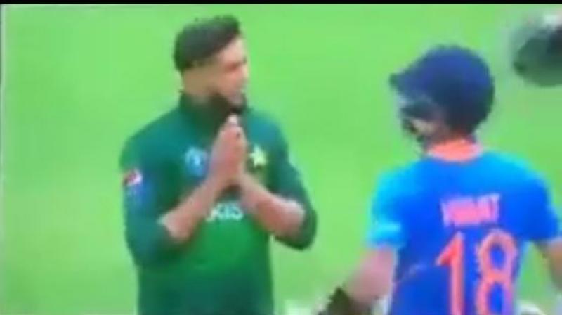 Imad Wasim and Virat Kohli (Photo: screengrab Top 3/YouTube)