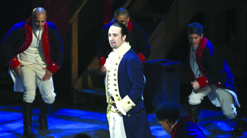 A file photo of Lin-Manuel Miranda and the cast of Hamilton performing at the Tony Awards at the Beacon Theatre in New York. (Photo: AP)