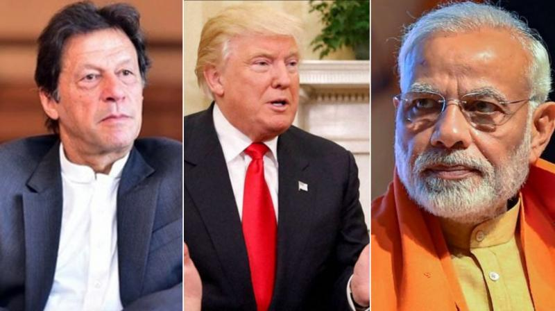 While Trump will address Indian-Americans, along with PM Modi, at the 'Howdy Modi!' event in Houston on September 22, the American president did not say when or where will he be meeting PM Khan. (Photo: PTI | Twitter)