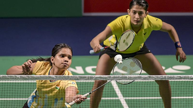 File photo of India's Ashwini Ponnappa and N Sikki Reddy in action. PTI Photo
