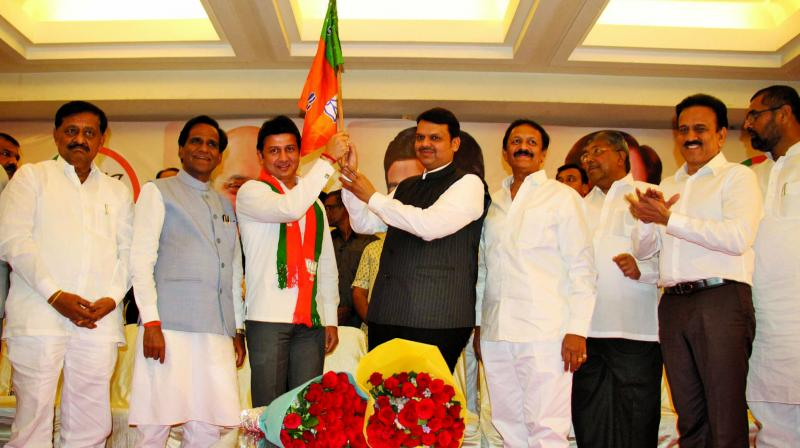 Ranjitsinh Mohite Patil joined BJP on Wednesday. 	(Photo: Asian Age)